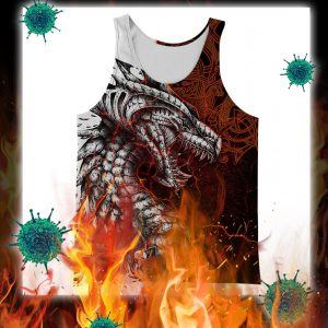 Tattoo dragon 3d full printing tank top