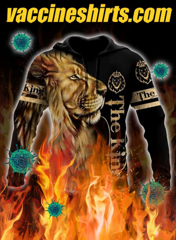The king lion 3d hoodie - S