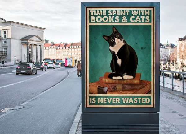 Time spent with books and cats is never wasted poster 3