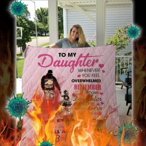 To my daughter baby girl love dad quilt