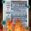 To my husband i didn't marry you blanket