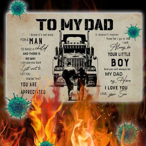 Trucker son to my dad poster