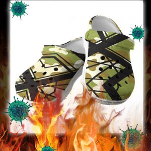 Van halen camo CROCS SHOES CROCBAND- pic 2