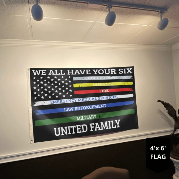 We all have your six united family flag 1