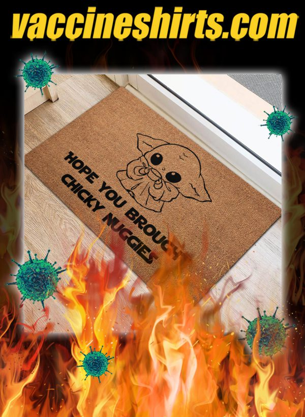 Yoda hope you brought chicky nuggies doormat