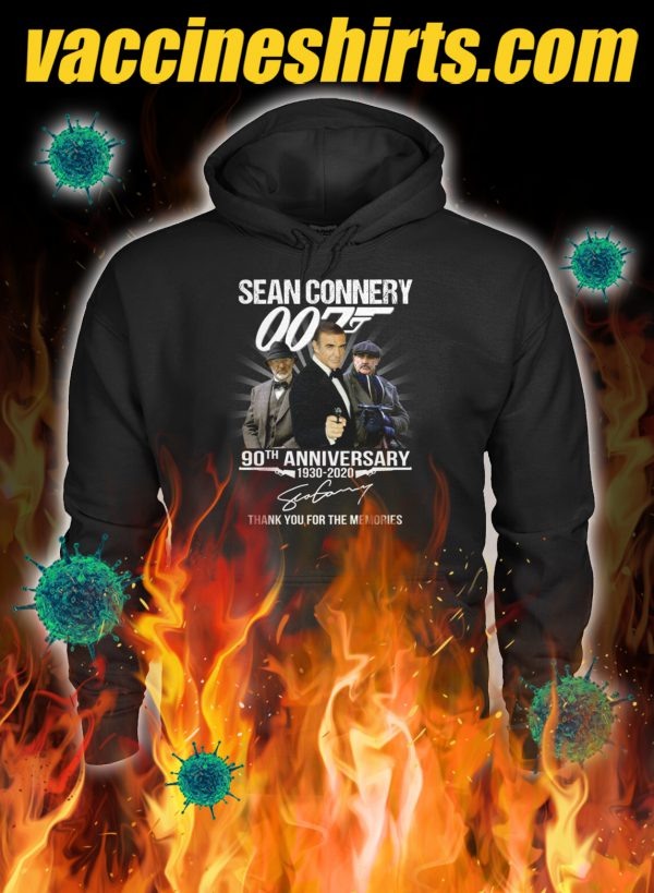007 Sean connery 90th anniversary thank you for the memories hoodie