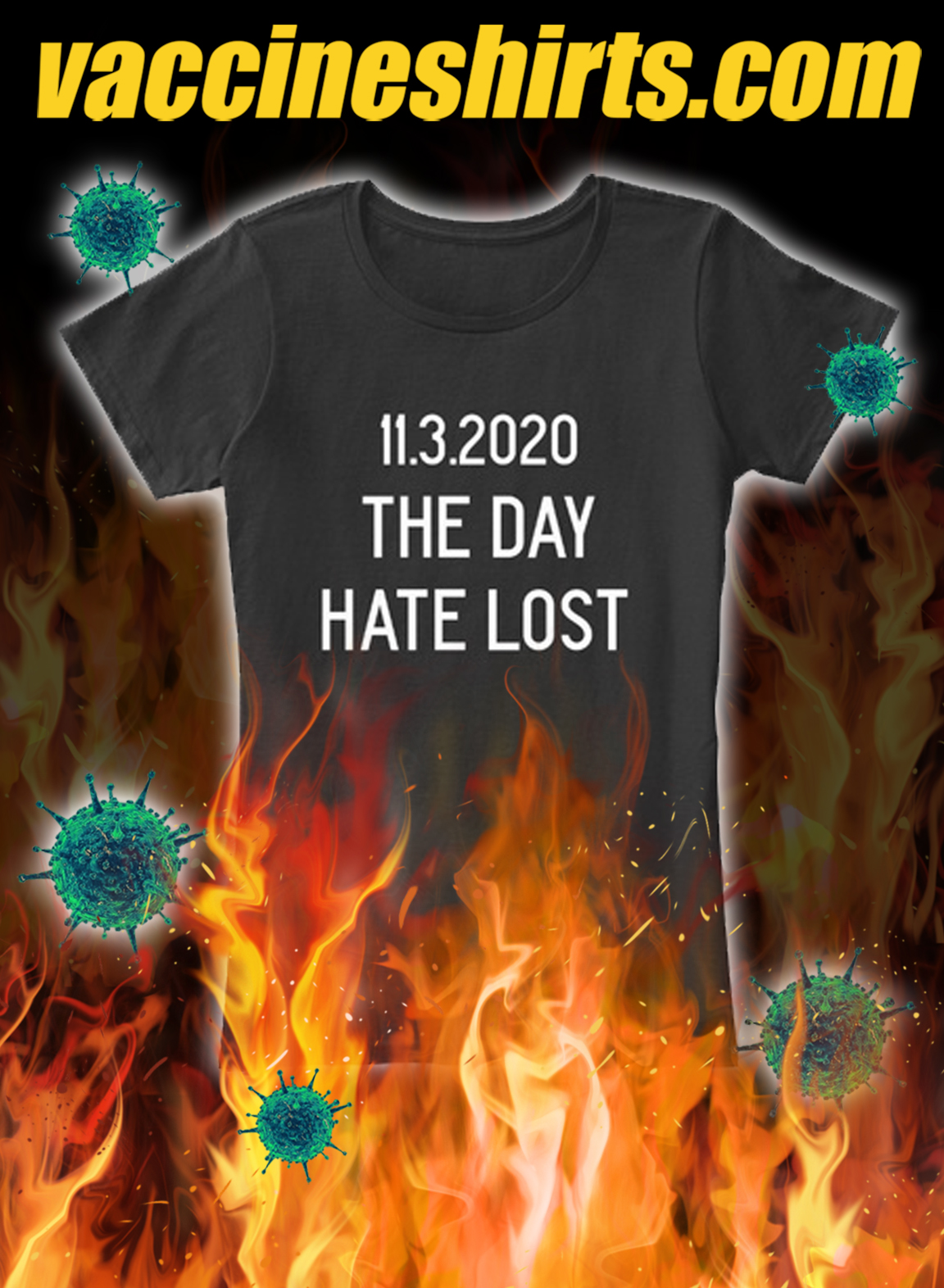 11 3 2020 the day hate lost shirt- pic 1