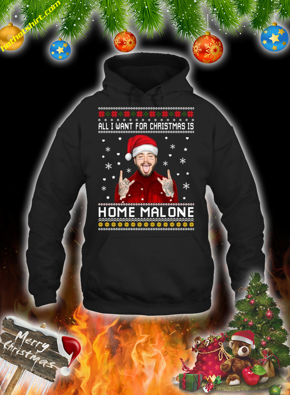 All i want for christmas is home malone christmas sweatshirt and jumper 1
