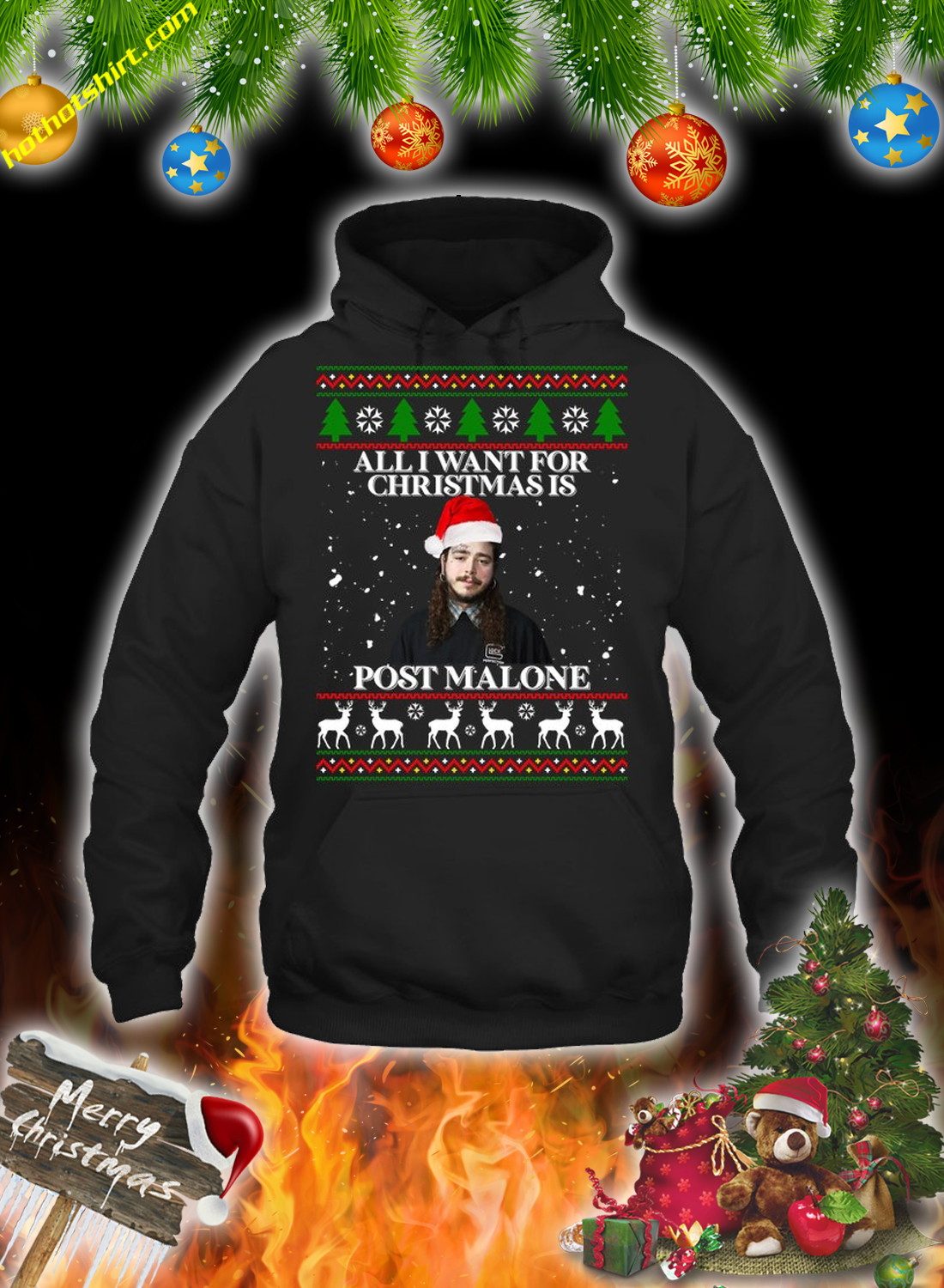 All i want for christmas is post malone christmas sweatshirt and jumper 1