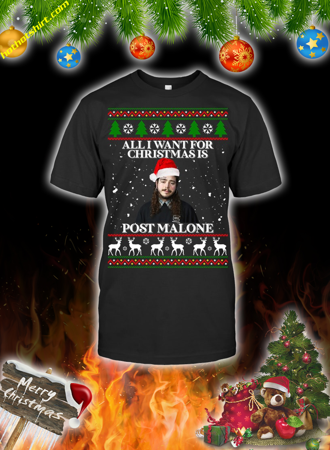 All i want for christmas is post malone christmas sweatshirt and jumper 2
