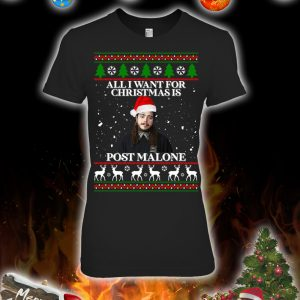 All i want for christmas is post malone christmas sweatshirt and jumper 3