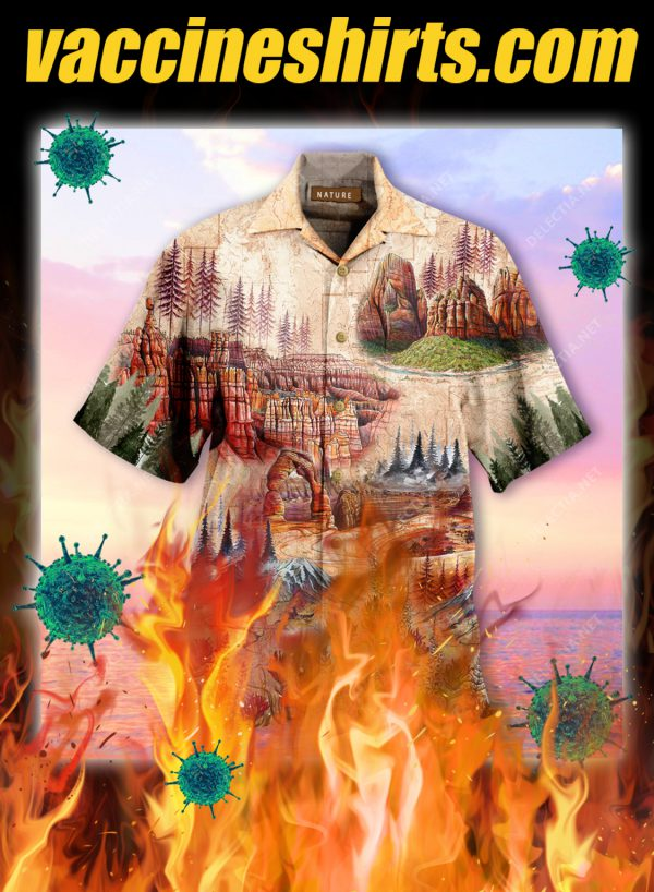 Amazing Landscape In National Parks Unisex Hawaiian Shirt- pic 1