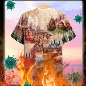 Amazing Landscape In National Parks Unisex Hawaiian Shirt- pic 2