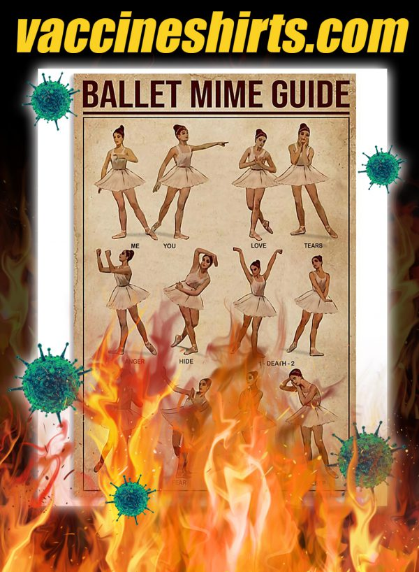 Ballet mime guide poster