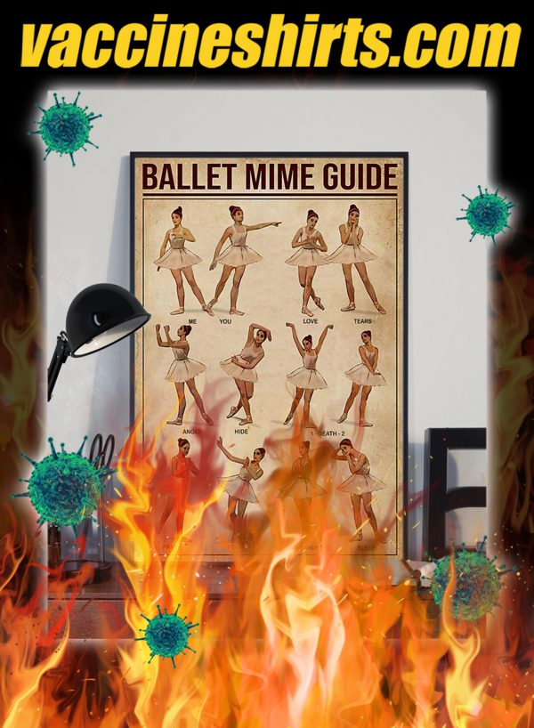 Ballet mime guide poster- A2