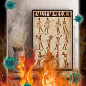 Ballet mime guide poster- A3
