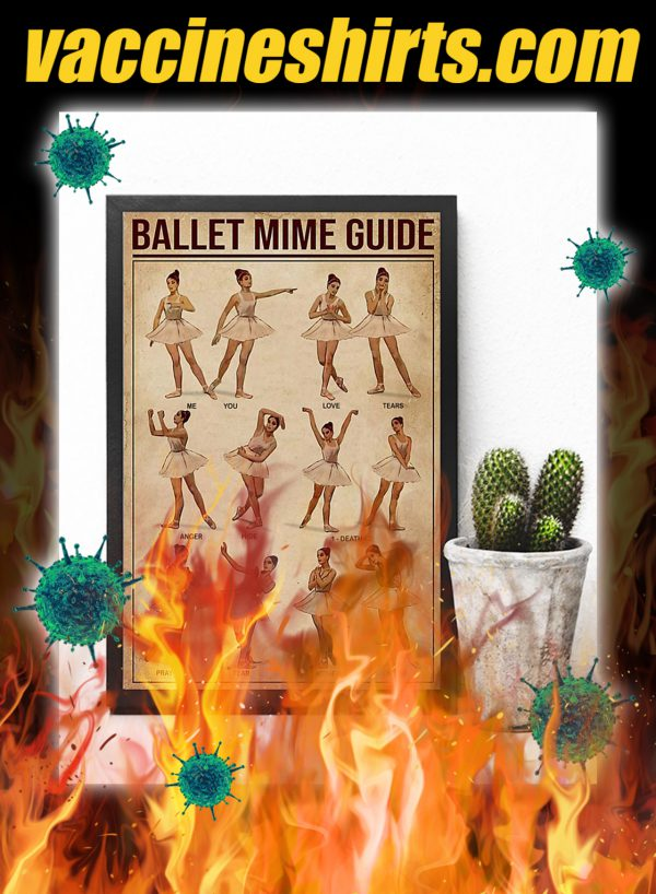 Ballet mime guide poster- A4