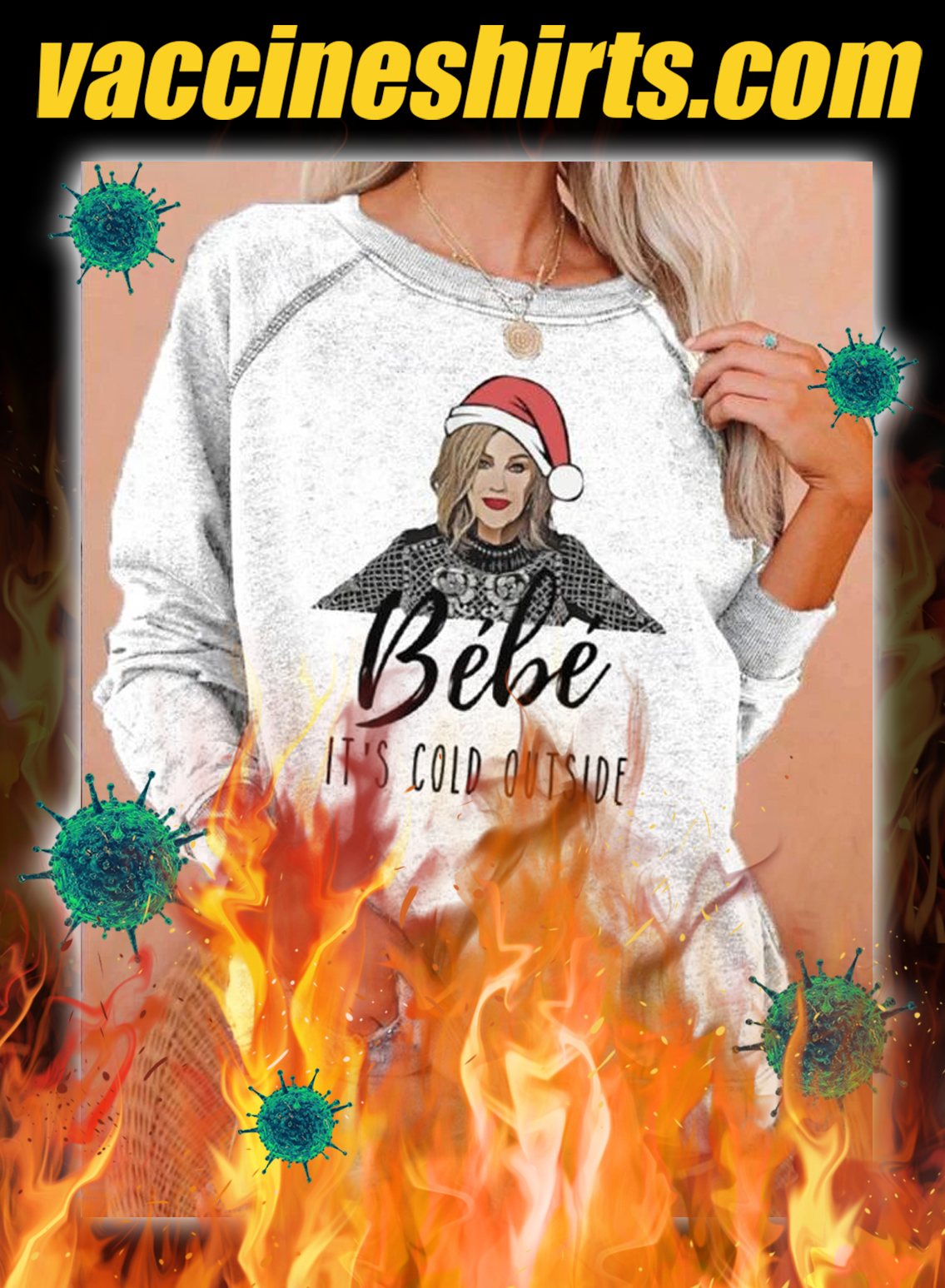 BéBé it's cold outside christmas sweatshirt - pic 1