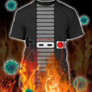 Classic Game Controller Select Start 3d Unisex shirt- pic 1