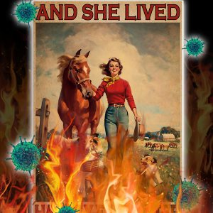 Girl horse and dog And she lived happily ever after poster