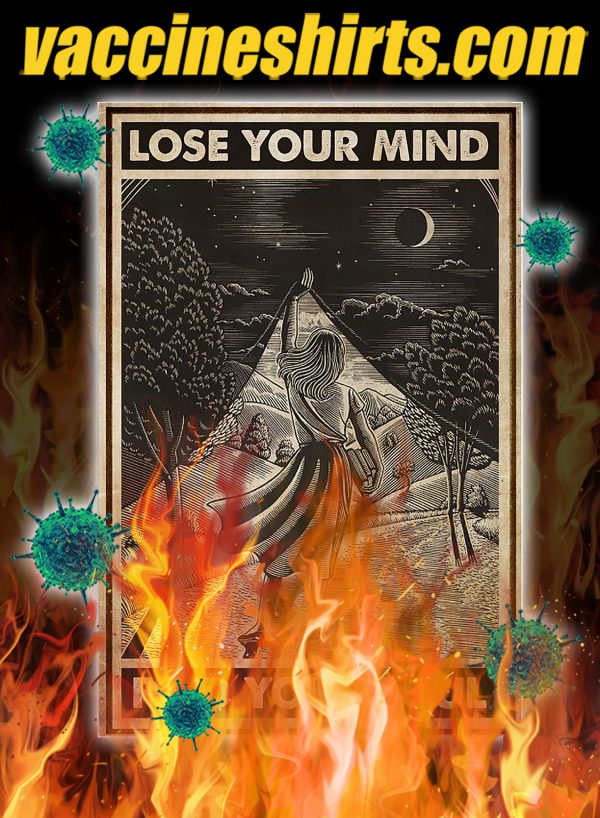 Girl with book lose your mind find your soul poster