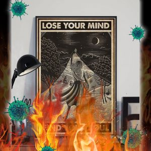 Girl with book lose your mind find your soul poster- A2