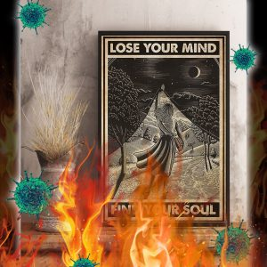 Girl with book lose your mind find your soul poster- A3