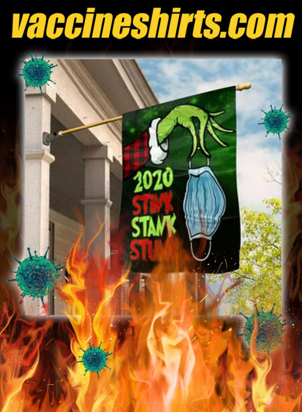 Grinch 2020 stink stank stunk flag