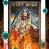 Hippie girl stay wild gypsy child poster