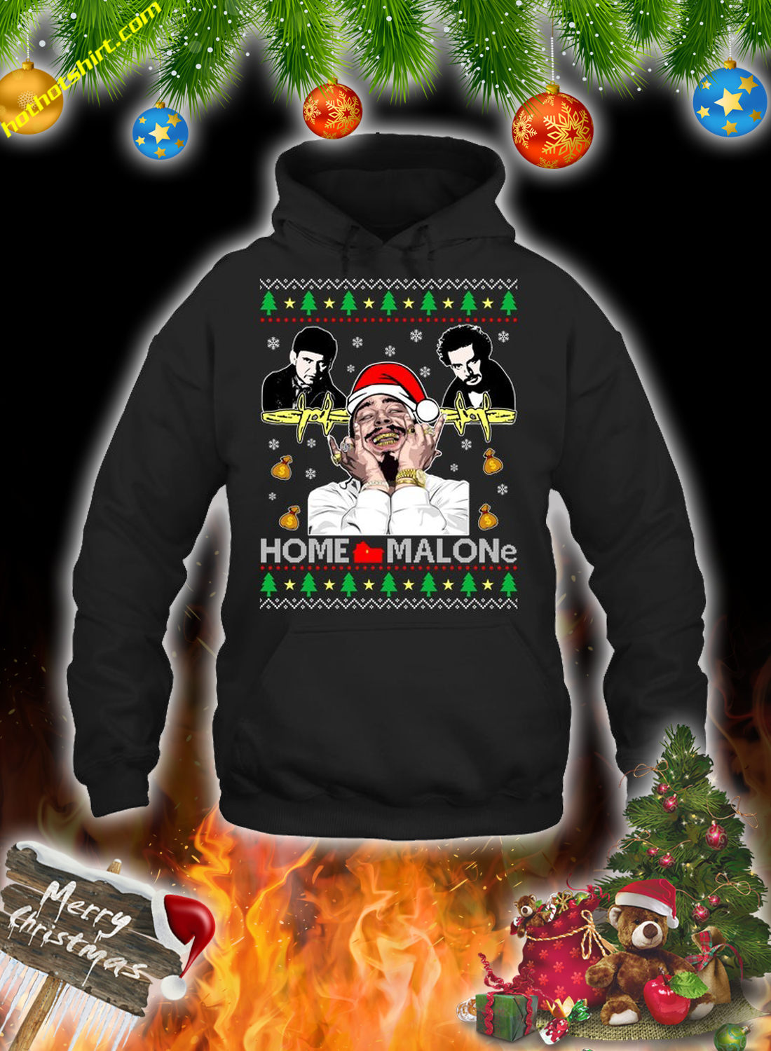 Home malone christmas sweatshirt and jumper 1