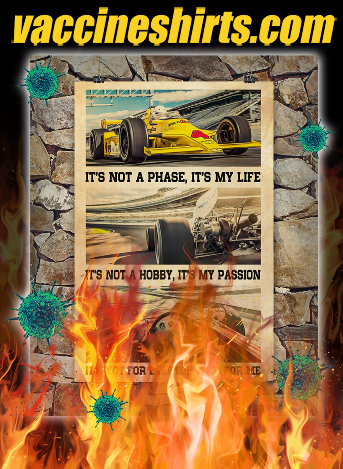 Indianapolis Car It's Not A Phase It's My Life Poster- A2