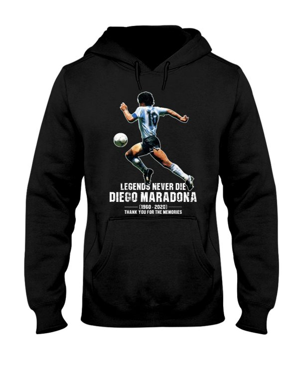 Legends never die Diego Maradona Thank you for the memories shirt 1