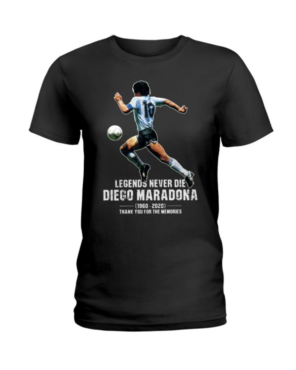 Legends never die Diego Maradona Thank you for the memories shirt 3