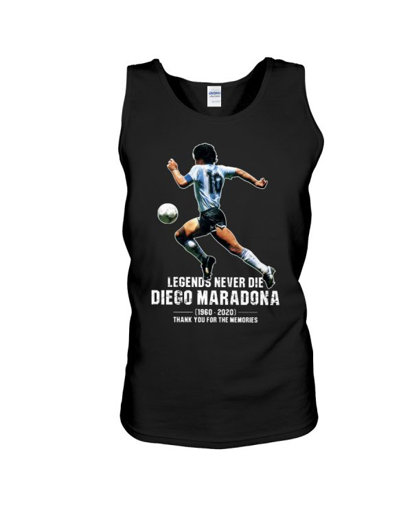 Legends never die Diego Maradona Thank you for the memories shirt 4