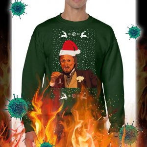 Leonardo DiCaprio Laughing Meme christmas jumper and sweatshirt- green