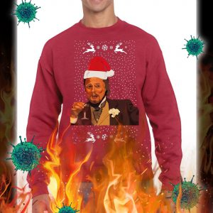 Leonardo DiCaprio Laughing Meme christmas jumper and sweatshirt- red