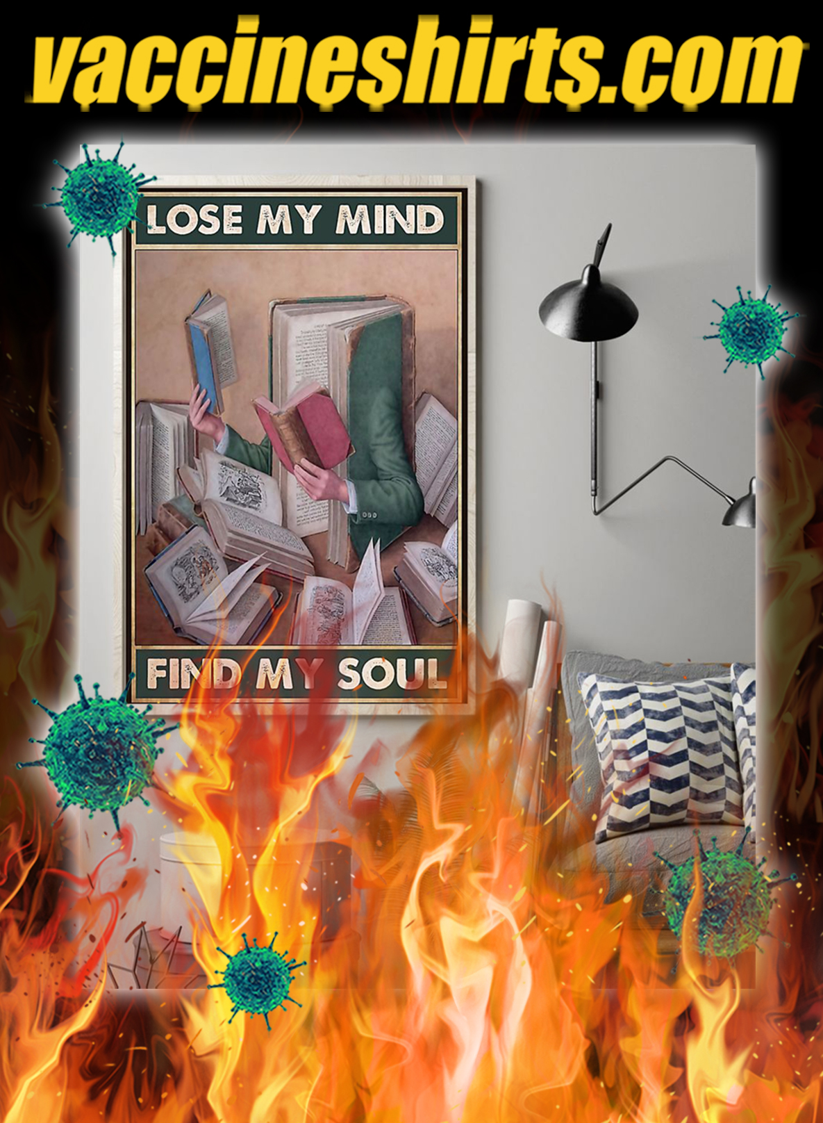 Librarian Lose Your Mind Find Your Soul Poster- A2