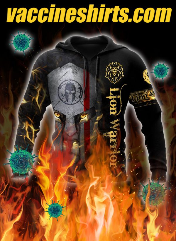Lion spartan warrior 3d all over printed hoodie