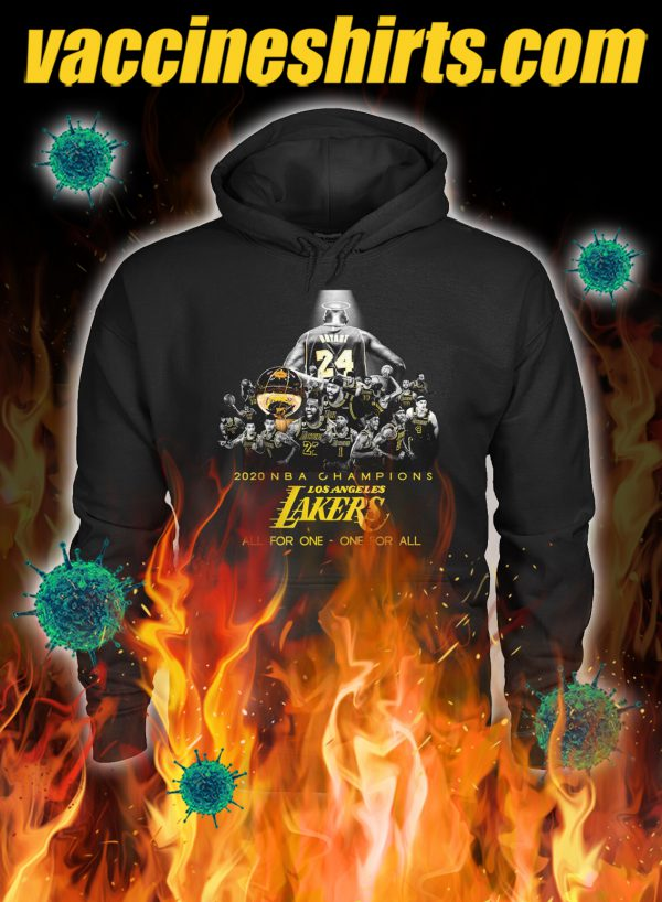 Los angeles lakers 2020 NBA champions all for one one for all hoodie