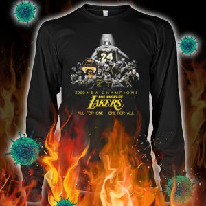 Los angeles lakers 2020 NBA champions all for one one for all longsleeve tee