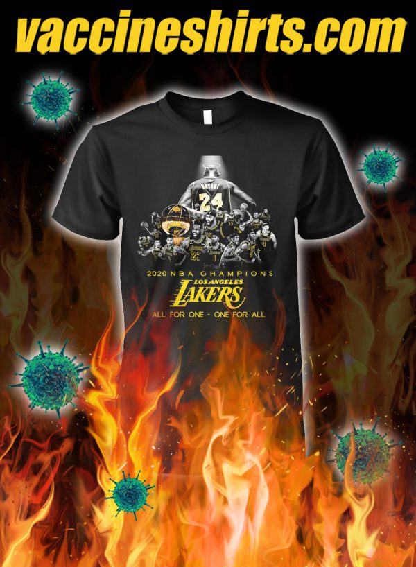 Los angeles lakers 2020 NBA champions all for one one for all shirt
