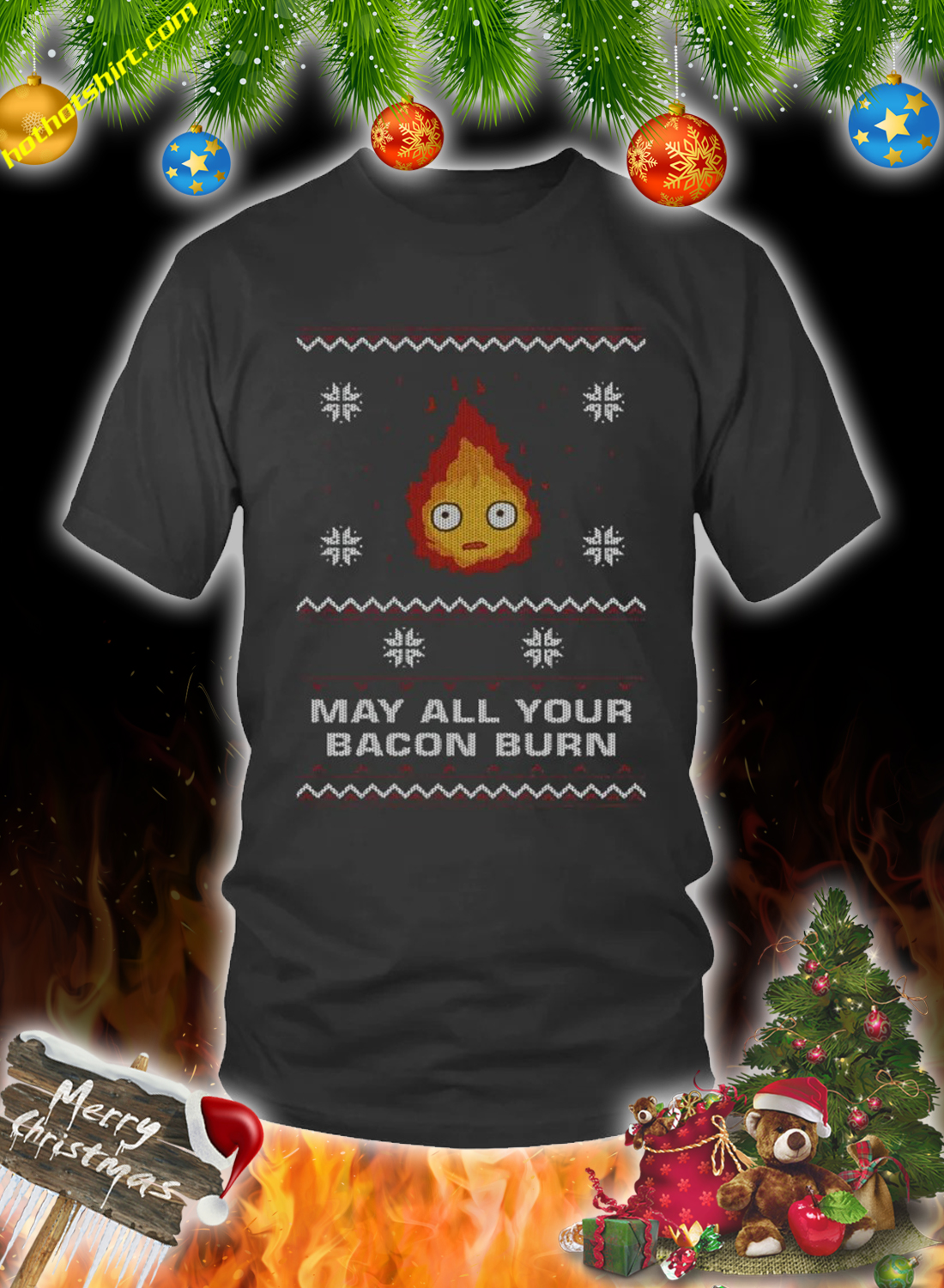 May all your bacon burn christmas sweater 2