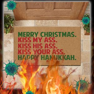 Merry christmas happy hanukkah doormat- pic 1