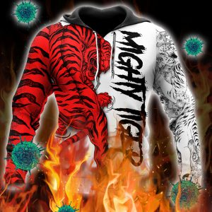 Night tiger 3d all over printed hoodie
