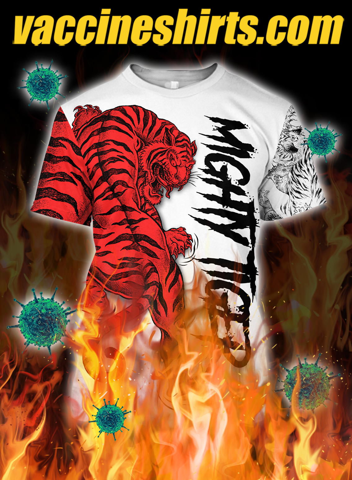 Night tiger 3d all over printed shirt