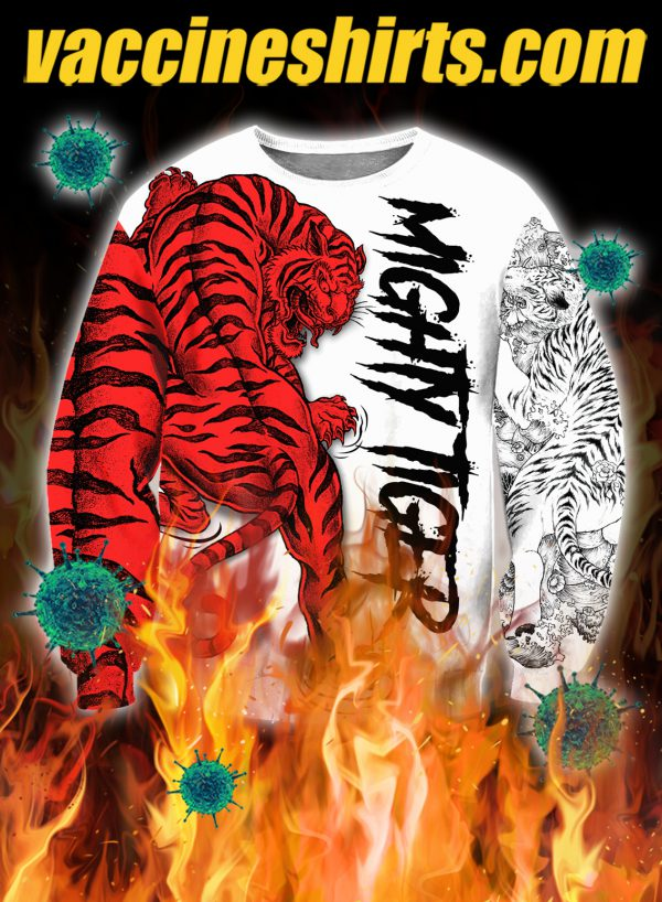 Night tiger 3d all over printed sweatshirt