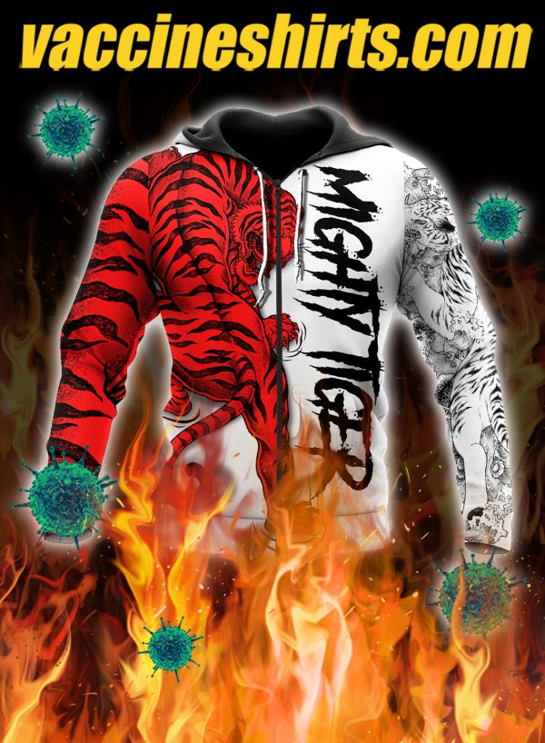 Night tiger 3d all over printed zip hoodie