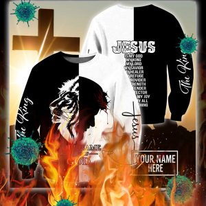 Personalized customize name Jesus the king child of god 3d sweatshirt