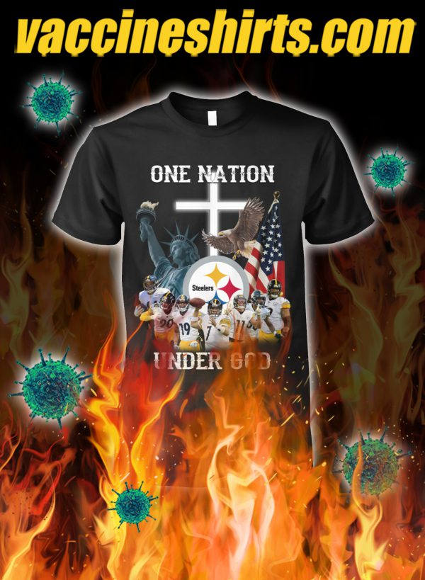 Pittsburgh steelers one nation under god shirt
