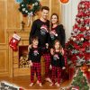 Santa Hat and Letter Print Family Pajamas Sets